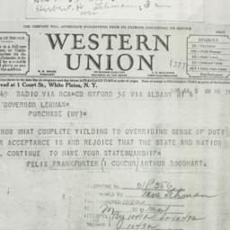 Telegram: 1936 July 5