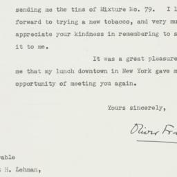Letter: 1948 October 25