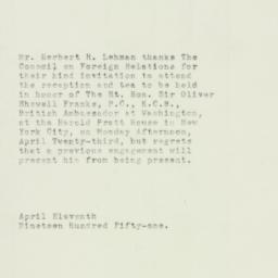 Note : 1951 April 11