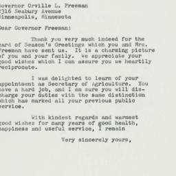 Letter : 1960 December 21