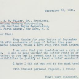 Letter : 1941 September 20