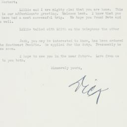 Letter : 1943 May 3