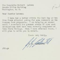Letter : 1950 March 16