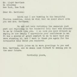 Letter : 1949 November 22