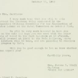 Letter : 1950 October 23