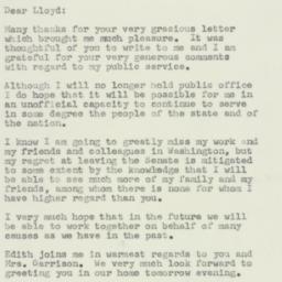Letter : 1957 January 16
