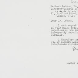 Letter : 1945 August 20