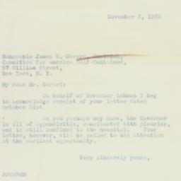 Letter : 1933 November 3