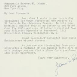 Letter: 1945 November 30