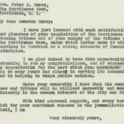 Letter : 1929 December 9