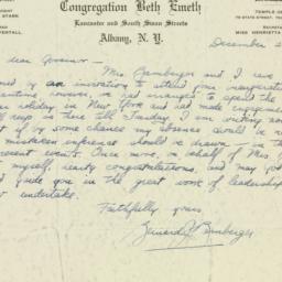 Letter : 1932 December 28