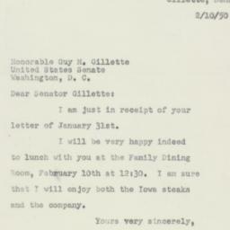 Letter: 1950 February 10