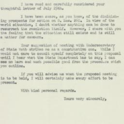 Letter: 1950 July 27
