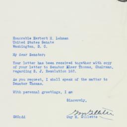 Letter: 1950 August 7
