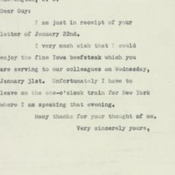 Letter: 1951 January 27