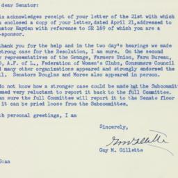 Letter: 1952 April 24