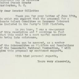Letter: 1952 June 18
