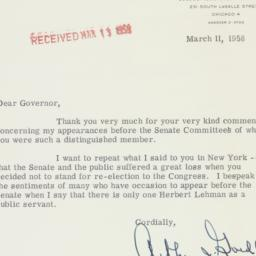 Letter : 1958 March 11
