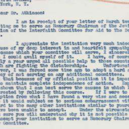 Letter : 1941 March 18