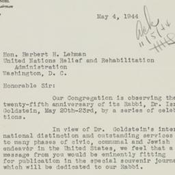 Letter: 1944 May 4