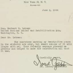 Letter : 1944 June 2