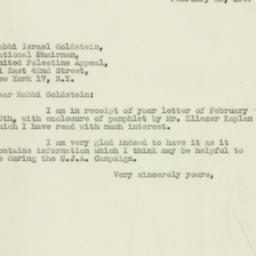Letter : 1947 February 25
