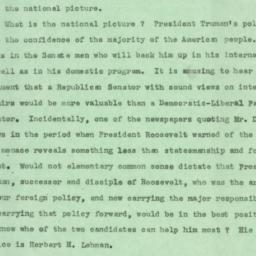 Speech: 1949 November 2