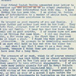 Telegram : 1941 February 22