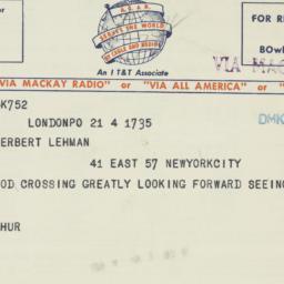 Letter : 1949 April 4