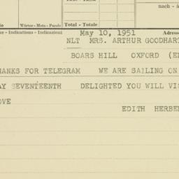 Invitation : 1951 May 10