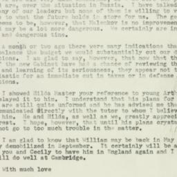 Letter : 1953 March 7