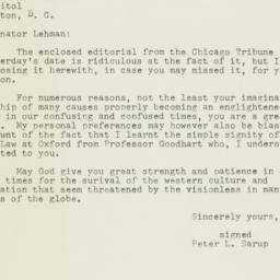 Letter : 1954 August 2