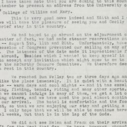 Letter : 1954 August 29