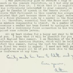 Letter : 1954 December 17