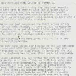 Telegram : 1963 August 6