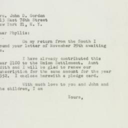 Letter : 1951 December 14