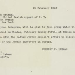 Letter : 1946 February 21