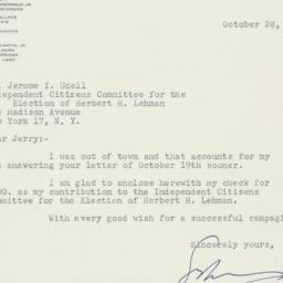 Letter : 1949 October 28