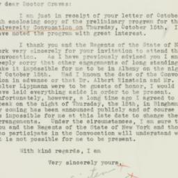 Letter : 1936 October 9