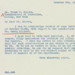 Letter : 1939 October 9