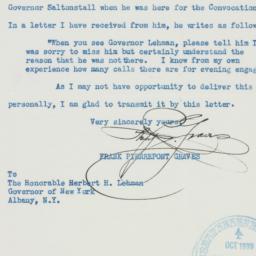 Letter : 1939 October 25
