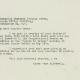 Letter : 1948 May 29
