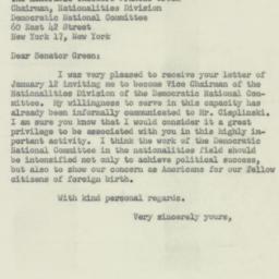 Letter: 1953 January 16