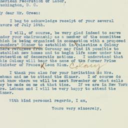 Letter : 1928 July 20