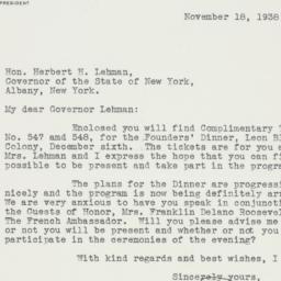 Speech: 1938 November 18