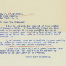 Letter : 1939 February 27