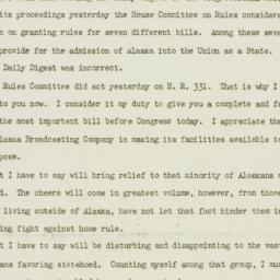 Letter : 1949 July 22