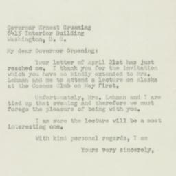 Letter: 1950 April 27