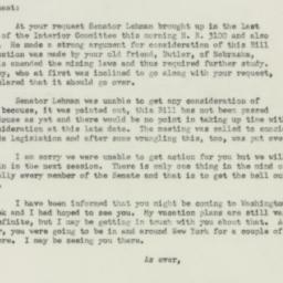 Letter: 1951 October 19