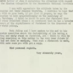 Letter: 1952 June 17